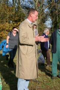 The Rev. Kelvin giving a bless to the new copse